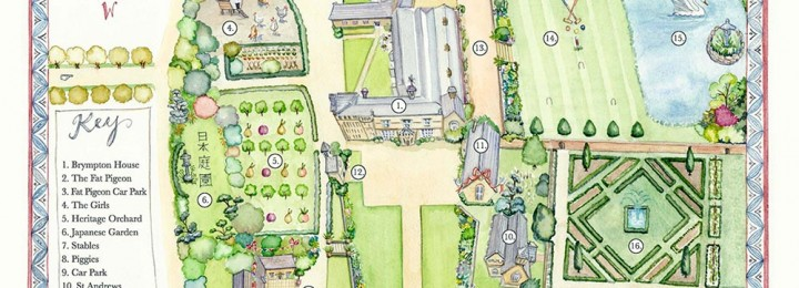 Venue map for Brympton D'evercy House